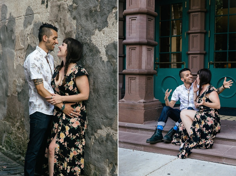 Downtown Charleston photography couples